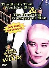 Brain That Wouldnt Die/The Amazing Transparent Man (DVD, 2000) Brand NEW