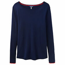 Brand New JOULES French Navy TARA (X) Curved Hem Jumper Size 18