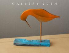 EPIC! MID CENTURY MODERN WOOD BIRD SCULPTURE! VTG 50S SANDPIPER ART MODERNIST