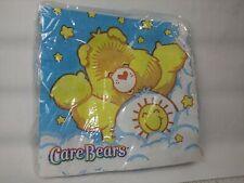 Vintage Care Bears party napkins Sunshine Bear Original 80's packaging unopened!