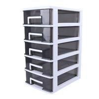 2/3/4/5 Tier Drawer Storage Cabinet Home Organizer Unit Closet Storage Shelf