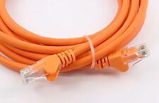25 cm RJ45 Câble Ethernet CAT6 Rapide Gigabit Patch Réseau LAN PC portable TV Orange