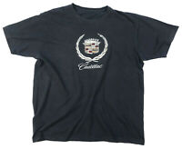 vintage distressed CADILLAC T Shirt black logo crest