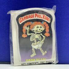 Garbage Pail Kids pinback button pin vintage 1986 sealed topps cards Drop Dead
