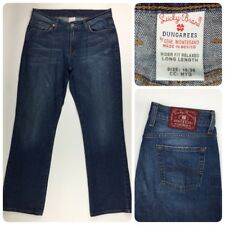 Lucky Brand Mens Rider Fit Relaxed Long Length Jeans 32x32