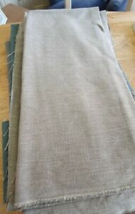 LINWOOD LUNA DOVE UPHOLSTERY FABRIC 165cm X 137cm + 135cm X 137cm
