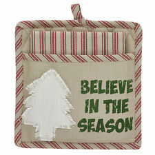 New listing New Christmas Holiday Pot Holder & Dish Towel Gift Set Believe In The Season Nwt