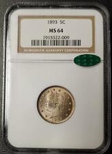1893 LIBERTY NICKEL - NGC - MS 64 - CAC STICKER  - #009