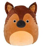 "8"" Squishmallow Mario Brown Shepard Dog Pup Plush Stuffed Soft Doll Pillow Gift"