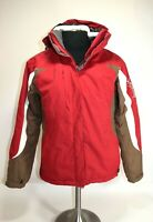 SALOMON MEN'S CLIMA PRO JACKET Snowboard Skiing Hike Winter Coat Red White Sz M