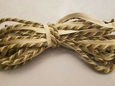 10 Yds Twisted Rope Cord Taupe Trim with lip pillows valance holiday decorative