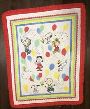Peanuts Characters Quilted Panel Baby Quilt 1966