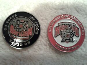 127--Job Lot-University of Maryland -Terrapins--Golf Ball Marker Double Sided--