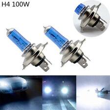 2X H4 100W 12V Xenon Gas Halogen Headlight Bright White Light Lamp Bulb 5000K