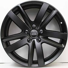 20 inch Genuine Audi Q7 S-Line 2011 Mod ALLOY Wheels IN  BLACK SUIT VW TOUAREG
