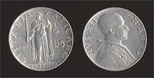 VATICANO 5 LIRE 1953 - PIO XII