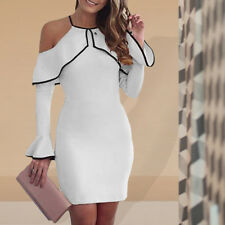 Fashion Women's Bandage Bodycon Long Sleeve Evening Party Club Mini Dress Lot