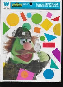 Vintage Sesame Street Sherlock Hemlock Whitman Frame-Tray Puzzle 1976
