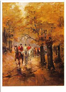 Kunstpostkarte / Postcard - Alfred Lier:  Ausritt im Herbst