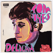SP 45 TOURS TOM JONES  DELILAH  DECCA F 12747 en 1968  pochette ouvrante ITALIE
