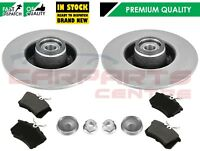 RENAULT CLIO MK3 REAR BRAKE DISCS & PADS FITTED WHEEL BEARINGS & ABS RINGS 240mm