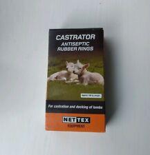 Nettex Castrator Antiseptic Rubber Rings for Castration & Docking Lambs -100 PK