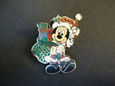 DISNEY SANTA MICKEY MOUSE WITH SACK OF PRESENTS JEWELED PIN