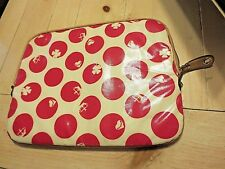 Juicy Couture laptop sleeve case pink white polka dot *GREAT*