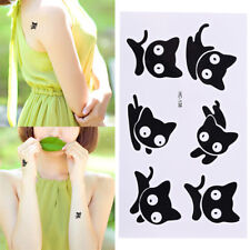 Pip  Design Cats Tattoo Removable Waterproof Stickers DIY Body Art Tatoo#@