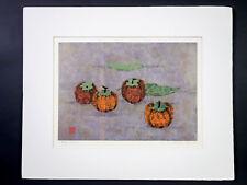 "Scarce Japanese Original Silk Screen Print ""Persimmon # 3"" by Kazutoshi Sugiura"