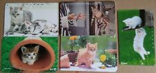 ⭐️ 5 CAT PHONECARDS (ALL DIFFERENT) ⭐ JAPAN NETHERLANDS ⭐️ PHONE CARDS ANIMAL ⭐️