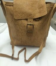 Ladies Baige Leather Shoulder Bag