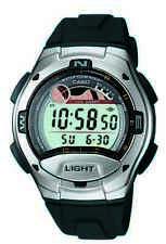 Casio Men's Quartz Moon Phase Tide Graph Black Resin Band 42.5mm Watch W753-1AV