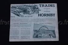 E139 Catalogue train Hornby 1935 1935 autorails ME 1 ME 2 flèche d'or bleu Dinky