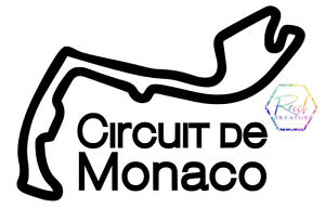 Monaco Formula 1 racing car sticker. Decal for wall, laptop, Ipad