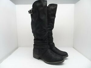 Sugar Women's Darling 2 Tall Shaft Riding Boot Black Fabric 7.5M