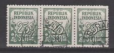 Indonesia 80 sheet trio CANCEL SURABAJA Cijfer 1951 : NU VEEL MEER INDONESIE