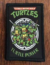 Teenage Mutant Ninja Turtles Morale Patch Tactical Military USA Hook Badge Army