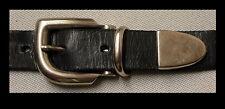 3-teilige GÜRTELSCHNALLE m. SCHLAUFE + SPITZE für 2,5cm breite GÜRTEL Metall NEU