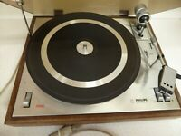 Philips 308 Turntable Record Deck Vintage 1970 Untested Restoration Project