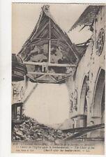 Guerre 1914-16 WW1 Bataille de la Somme Arvillers Eglise Vintage Postcard 103b