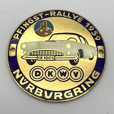 DKW DKWV PFINGST RALLYE 1959 NÜRBURGRING RACE RALLY OLDTIMER AUDI NSU HORCH VW