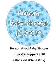 Baby Shower Bautizo personalsied Cupcake Toppers Comestibles oblea de papel