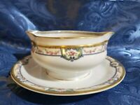 Theodore Haviland Limoges France Elegant Gravy Boat w/Attached Underplate