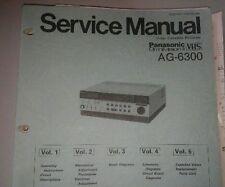 Panasonic Service Manual  VCR AG-6300 volumes 1 - 5 & supplements