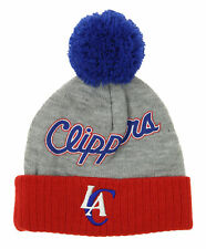 Adidas NBA Toddlers Los Angeles Clippers Cuffless Knit Beanie Hat With Pom