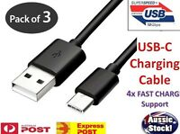 3x 4.1AMP Type-C USB-C Data Sync FAST Charger Charging Cable SONY HUAWEI Nokia