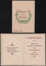 1917 World War I Christmas card 'Greetings from Baghdad'. Mesopotamia, Iraq