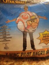 Adults Angry Birds Star Wars Rebel X-Wing Fighter Pilot Costume One Size #708