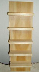 "Eyeglass Sunglass Rack Storage Shelf Wood Hang Display Wooden 18"" Handmade"